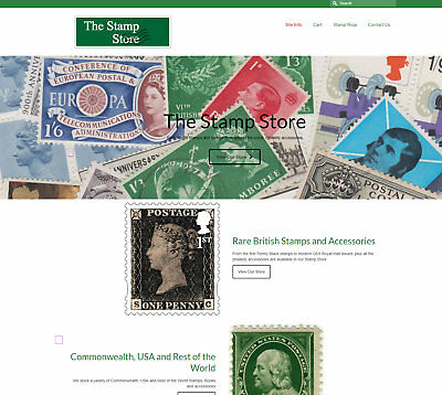 Fully Stocked STAMPS / PHILATELY business: FREE Domain/Hosting. £110 per sale!