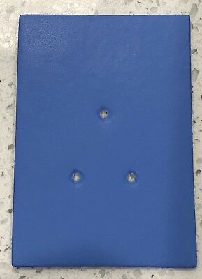 NSW Police Style Leather (synthetic) Badge Backing Board, Light Blue.