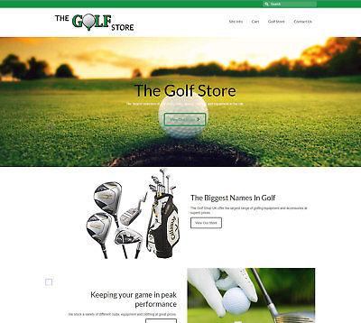 Fully stocked, automated GOLF Business - Upto £70 per sale FREE DOMAIN / HOSTING