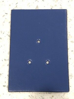 NSW Police Style Leather (synthetic) Badge Backing Board, Dark Blue.