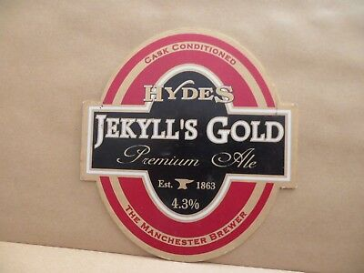 HYDES JERKYLLS GOLD   Ale Beer Pump Clip Bar Collectible