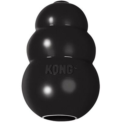 KONG Extreme Black Rubber Treat Dispenser Dog Chew Toy XS, S, M, L, XL or Treats