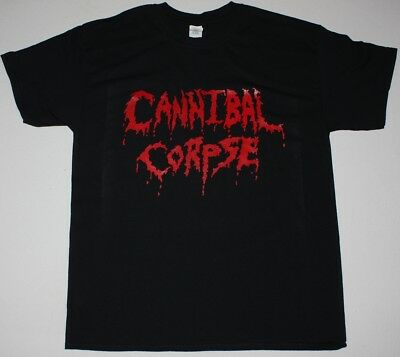 Cannibal Corpse Logo Grindcore Death Metal Deicide Suffocation New Black T-Shirt