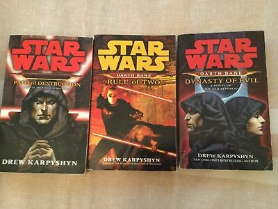 Star Wars: Darth Bane complete series lot by Drew Karpyshyn