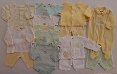 Baby Infant 0-3 M Lot 14 Pieces Mixed Layette Outfits Pants Jacket Shirt