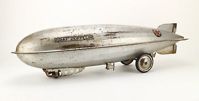 STEELCRAFT Macon Graf Zeppelin Blech 30's Vintage Tin Ride On Toy Blimp Pull 31""