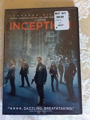 Inception (DVD, 2010)-Brand New-Starring Leonardo DiCaprio-Action and Adventure