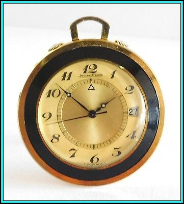 JAEGER LeCOULTRE Memovox Alarm Travel Pocket Watch 1970's - WORKING  Manual Wind