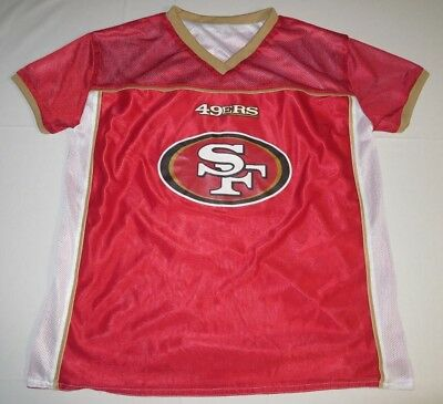 08d2ef69828 NFL Football Flag Reversible Jersey San Francisco 49ers Boys Youth XL Play  60