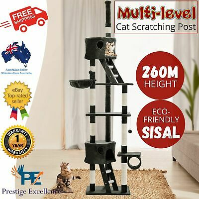 iPet Large Cat Scratching Post Furniture Tree Pole House Condo Gym Toy Scratcher