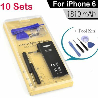 10 X Replacement 1810mAh Li-Ion Battery w/ Flex Cable For Apple iPhone 6 + Tools