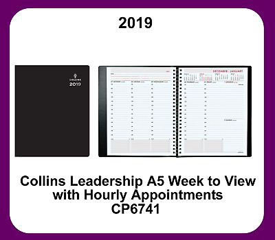 Collins 2019 A5 Leadership Week to View (Appointments) Wiro bound Diary - CP6741
