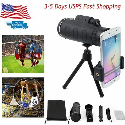 US 40x60 Zoom SCOPE Monocular Telescope Camera Lens +Tripod+Clip for Cell Phone