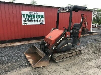 2005 Ditch Witch XT850 Tracked Compact Loader Backhoe.