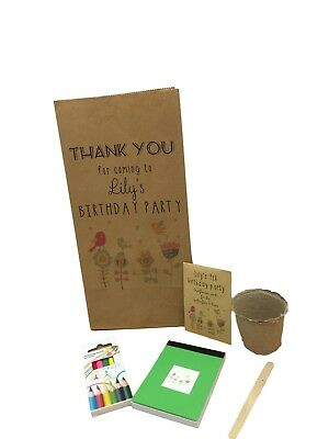 Eco Friendly Birthday Party Bags Personalised No Plastic Bag & Fillers