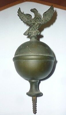 Original 18th Century Brass Longcase Bird Finial