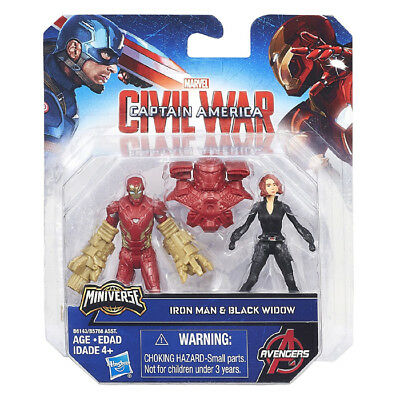 Avengers Captain America Civil War Iron Man Vs Black Window Capitan Minifigure B