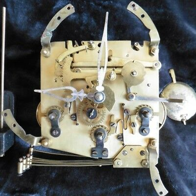 VINTAGE 1930s GERMAN WESTMINSTER CHIME CLOCK MOVEMENT FOR SPARES
