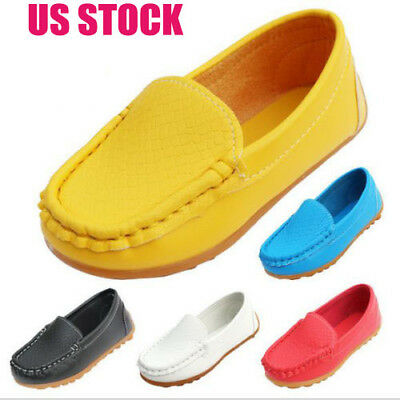 Baby Girls Boys Shoes Flats Soft PU Leather Party Children Casual Slip On Flats