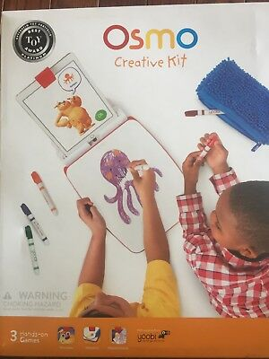 NEW Osmo Creative Kit for iPad (Base Included) - 3 Games - SEALED | 901-00004