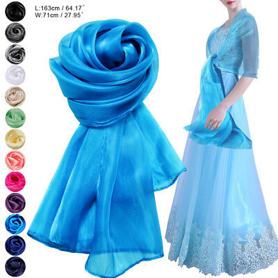 Women Stylish Wedding Bridesmaids Prom Dress Soft Chiffon Scarf Shawl Stole Wrap