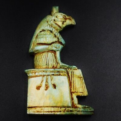 Rare Ancient Egyptian Faience Amulet Figurine, 600-300 BC