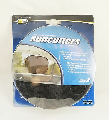 Auto Expressions AE Suncutters Side Shade 2 Pcs/pack