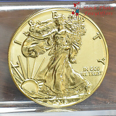 2016 Gold Plated American Silver Eagle - BU