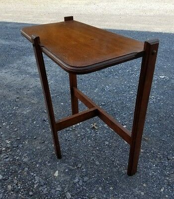 Vintage Antique Oak Wood Side Entrance Hall Table Stand Entry Way Foyer Hallway