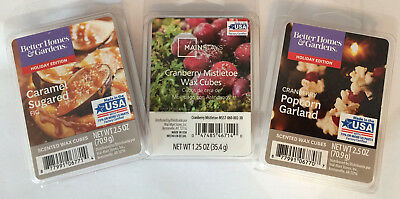 Scentsy & Better Homes and Gardens Wickless Scented Wax Cubes Melts Tarts - New