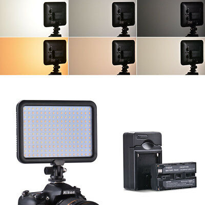 Tycka 204 LED Video Light Studio Lamp with Battery for Canon DSLR Camera TK204