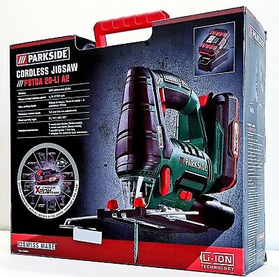 Parkside Cordless Jigsaw with 20V Lithium-ion 2Ah Battery. New In Box.