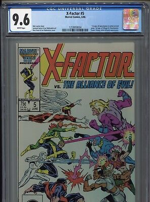 1986 Marvel X-Factor #5 1St Appearance Apocalypse In Cameo Cgc 9.6 White