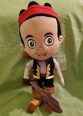 "Disney Store Jake and the Neverland Pirates Plush Jake Doll 12"" Stuffed Toy"