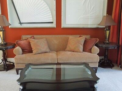 Astounding Bernhardt Sofa With Nail Head Trim And Two Soft Down Caraccident5 Cool Chair Designs And Ideas Caraccident5Info