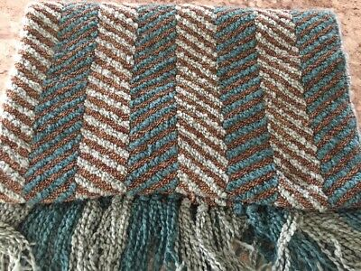 pier 1 imports throw blanket chunky chenille woven fringed 48x62