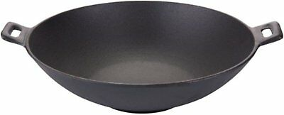 """Round Mexican Style Wok Sartén Frypan Comal Griddle Skillet Heavy Cast 12"""""""