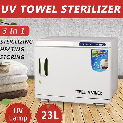 23L UV Towel Sterilizer Warmer Cabinet Heater Hot Salon Spa Beauty Disinfection
