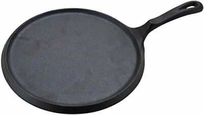 Round Mexican Style Comal Griddle Skillet Redondo Heavy Cast Iron 10""