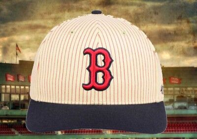 ef231f3a72caf New Boston Red Sox  47 MLB Pinstriped Wayside Hat Cap Snapback Throwback