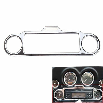 Chrome Stereo Accent Trim Ring Cover For Harley Electra Glide Touring 1986-Up