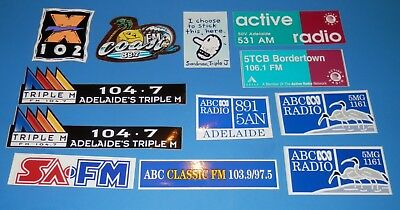 Lot of 12 Various South Australian Radio Staion Stickers