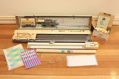 Brother Knitting Machine KH830, KL116 Knit Leader, Intarsia carriage, Cards +