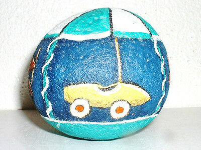 "Painted Rock  ""cars & Planes "" Fun Merry-Go-Round ! One Of A Kind - Vivian Allen"