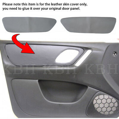 2pcs Leather Front Door Panel Replacement Cover Fits Ford Escape 2001-2007 Gray