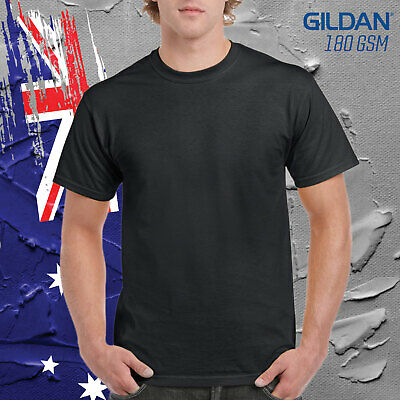 Gildan Black Cotton Basic Tee Shirt Mens T Shirt 100% Cotton 180GSM