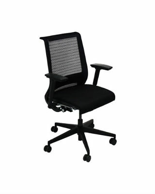 Steelcase Think Chair, 3D Knit Back, 4-Way Adjustable Arms, Adjustable Lumbar