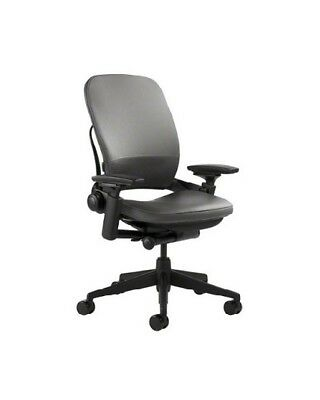 Steelcase Leap Chair, Leather, 4-Way Adjustable Arms, Adjustable Lumbar, (V2)