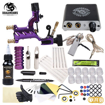 Professional Tattoo Rotary Guns Kit Liner And Shader Complete Tattoo Machine Ink
