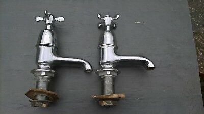 Reclaimed pair of hot/cold bath taps